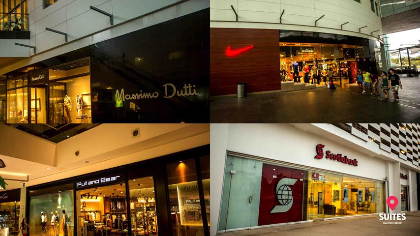Tiendas departamentales en la plaza comercial