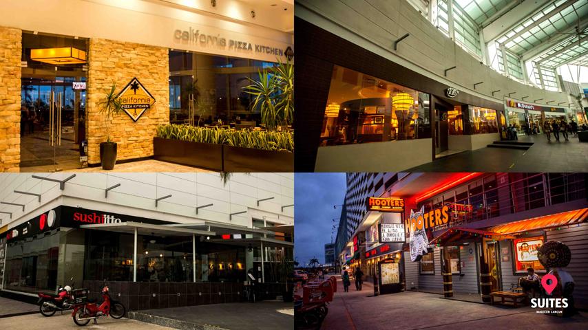 Restaurantes en la plaza comercial