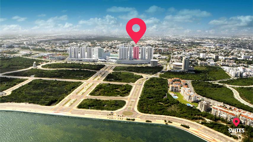 Ubicación Suites Malecon Cancún